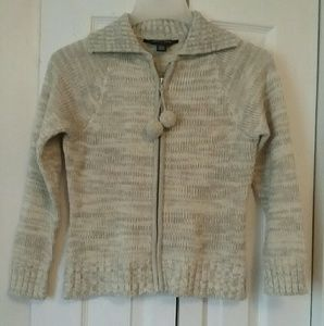 French Toast Zipper Front Sweater Size L